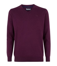 Barbour Cotton Cashmere V Neck Sweater