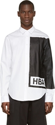 Hood By Air White And Black Printed Illusion Shirt