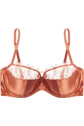 Eres La Pagode Port Royal Lace Trimmed Stretch Satin Balconette Bra