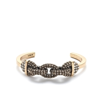 J.Crew Pave Link Cuff Antique Gold