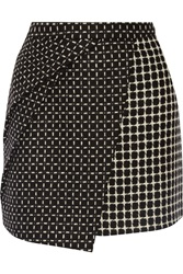 Raoul Sophie Wrap Effect Wool Blend Mini Skirt