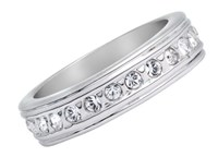 Aurora 18Ct White Gold Plated Ring Silver