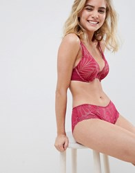 Wonderbra Refined Glamour Lace Padded Triangle Bra In Cherry Cherry Red