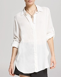 Halston Heritage Shirt Soft Button Front