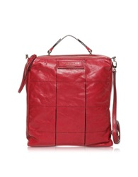 Francesco Biasia Elevation Leather Messenger Bag Red