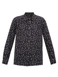 A.P.C. Heart Print Silk Blouse Navy