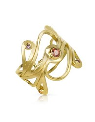Sho London Silver Vermeil Mari Splash Ring Gold