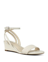 Nine West Lewer Low Wedge Sandals Off White