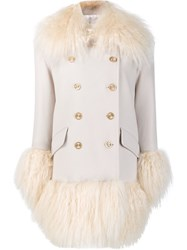 Sonia Rykiel Double Breasted Coat White