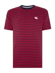 Canterbury Of New Zealand Yarn Dyed Stripe Tee Red
