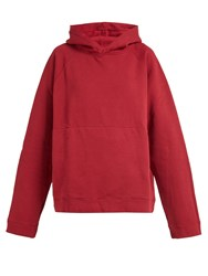 Katharine Hamnett Rick Oversized Cotton Jersey Hooded Sweatshirt Red