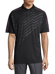 Callaway Embossed Polo Shirt Caviar