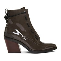 Rag And Bone Grey Patent Ryder Boots