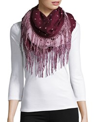 Lord And Taylor Dotted Loop Scarf Raspberry
