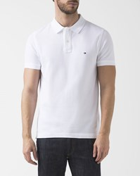 Tommy Hilfiger Slim Fit White Stripe Reverse Collar Polo