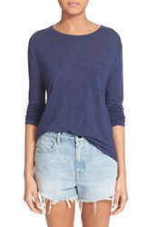Women's T By Alexander Wang Crop Long Sleeve Pocket Tee