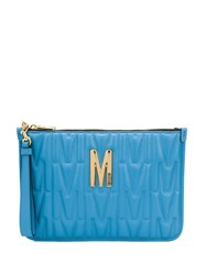 Moschino Quilted Logo Clutch Bag 60