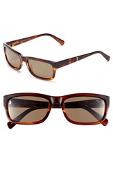 Original Penguin 'The Sammy' 56Mm Polarized Sunglasses Feathered Brown Brown