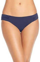 Tommy Bahama Women's Side Shirred Hipster Bikini Bottoms Mare Navy