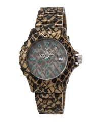 Toywatch Imprint Reptile Plasteramic Bracelet Watch Taupe