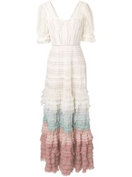 Jonathan Simkhai Layered Frill Knitted Dress White