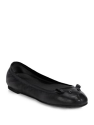 Marc By Marc Jacobs Mouse Leather Ballet Flats Black