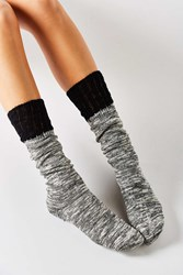 Urban Outfitters Crochet Cuff Slouchy Sock Black