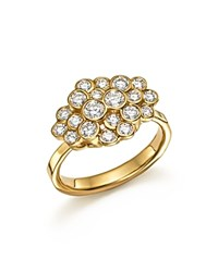 Ippolita 18K Yellow Gold Glamazon Stardust Bezel Cluster Ring With Diamonds