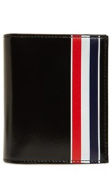 Thom Browne Brown X2 Stripe Card Holder
