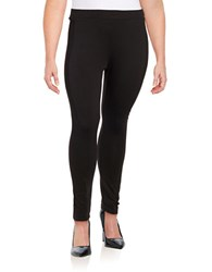 Junarose Mixed Texture Leggings Black