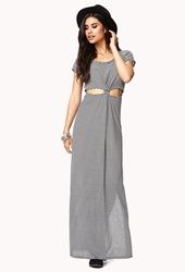 Forever 21 Knotted Maxi Dress Black White