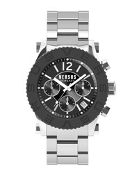Versus By Versace 42Mm Madison Men's Chronograph Bracelet Watch Black