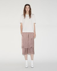 Aalto Elastic Waist Trousers Nude Check
