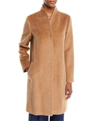 Eileen Fisher Suri Alpaca Long Coat Chestnut