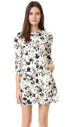 A.L.C. Terry Dress Eggshell Black Blue