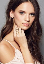 Forever 21 Amarilo Axiom Ring Gold
