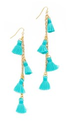 Vanessa Mooney The Dynasty Earrings Teal