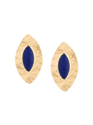 Balmain Oversized Teardrop Earrings Metallic