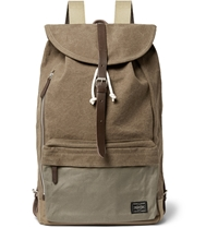 Porter Yoshida And Co Leather Trimmed Canvas Backpack Brown