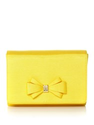 Ted Baker Graciee Bow Clutch Bag Yellow
