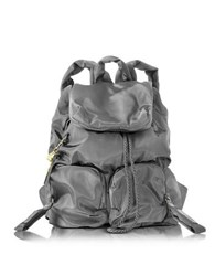 See By Chloe Chlo Joy Rider Black Nylon Backpack Dark Gray