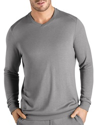 Hanro Theophile Long Sleeve Knit Shirt Gray