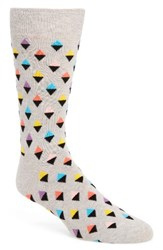 Happy Socks Men's Mini Diamond Cotton Blend