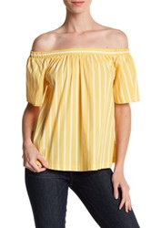 Abound Striped Off The Shoulder Shirt Yellow M Cls St