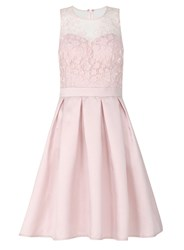 Quiz Pink Satin And Mesh Prom Dress Pink