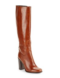 Kate Spade Baina Knee High Leather Riding Boots Cognac
