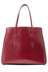 Alaia Embossed Leather Tote Gr. One Size