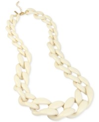 Inc International Concepts Iris X Gold Tone Large Link Statement Necklace Only At Macy's Ivory