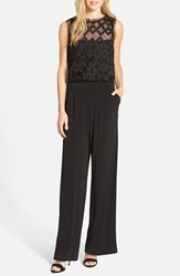 Julia Jordan Women's Jersey And Mesh Jumpsuit