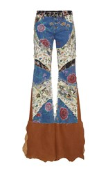 Roberto Cavalli Floral Patchwork Jeans Multi